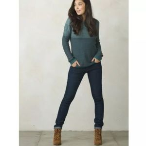 prAna women's Mallorey sweater blue pullover